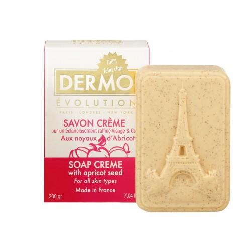 DermoEvolution savon créme aux noyaux d'Abricot 200g