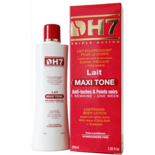 DH7 Lait Maxitone anti taches et points noirs 200ml