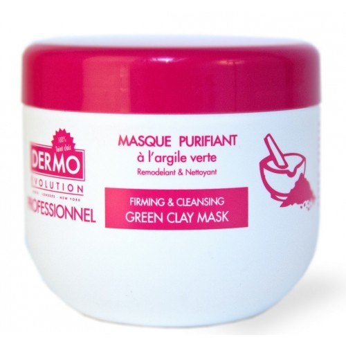 DermoEvolution Purifying Green Clay Mask Professionnal Size 500ml