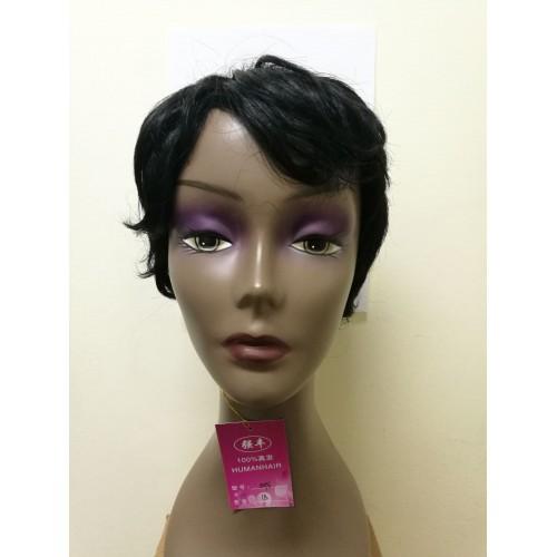 Perruque 100% naturelle coiffure courte