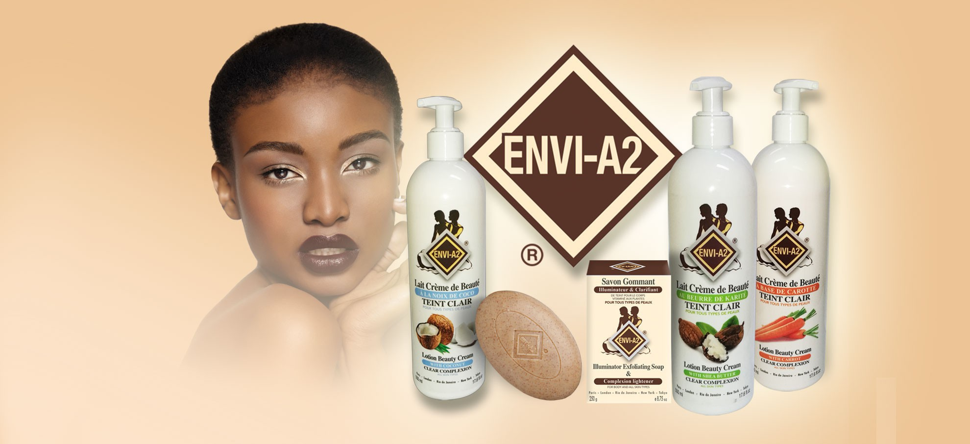 EnviA2 Produits cosmétiques pour peaux ethniques noires et métissées